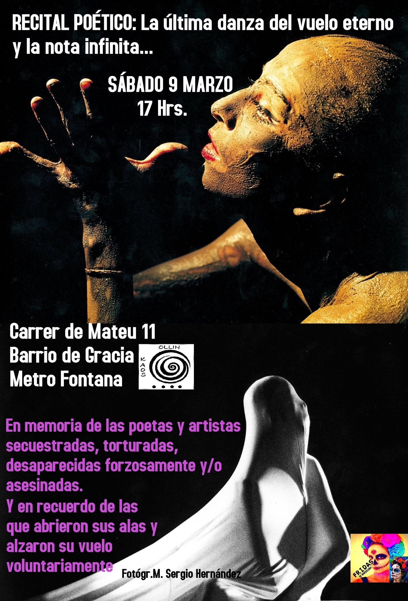 Recital LA ÚLTIMA DANZA DEL VUELO ETERNO Y LA NOTA INFINITA El 9 De Marzo